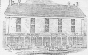 Line drawing of Old City Hall